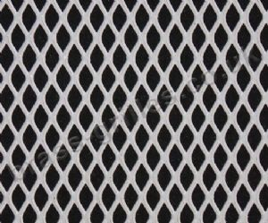 Expanded Steel Grille Mesh - White Powder Coated - 1220mm x 914mm x 1mm